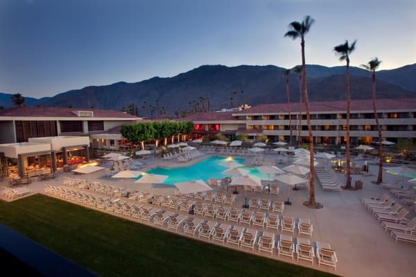 The Terrace Restaurant at the Hilton Palm Springs