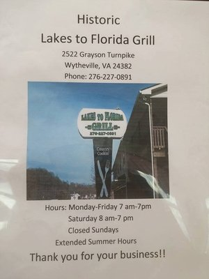 Lakes to Florida Grill