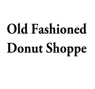 Old Fashioned Donut Shoppe