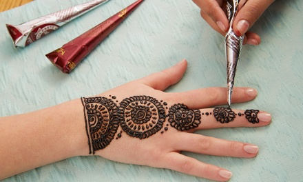 Eyebrow Threading and Henna Tattoo